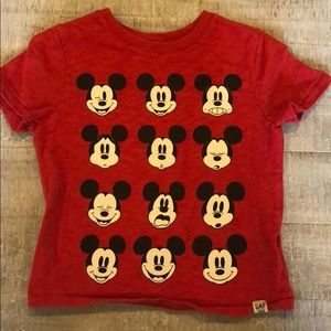 Gap Glow In The Dark Mickey Mouse Expression Shirt